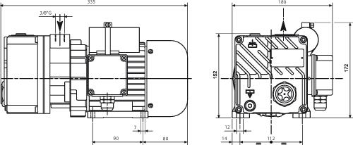 lb 5 oliesmurt vakuumpumpe